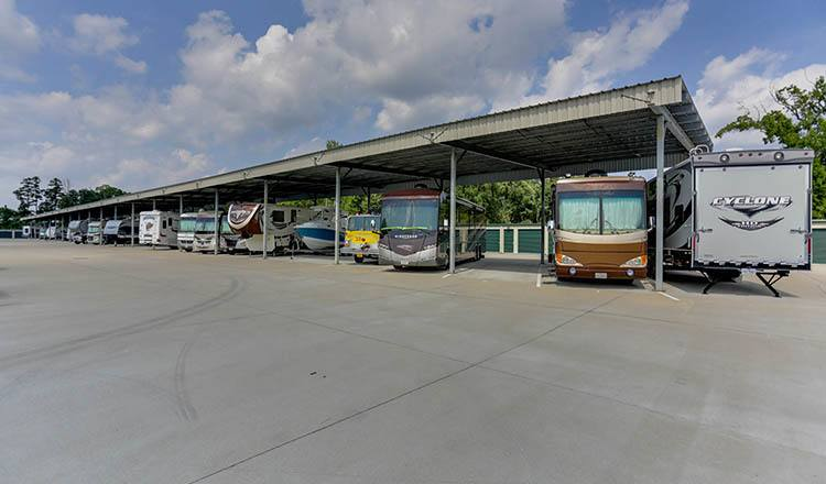 RV, Boat, and Auto storage at Happy Boxes Self Storage in Chester, Virginia