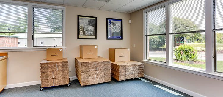 Moving supplies at Happy Boxes Self Storage in Chesapeake, Virginia