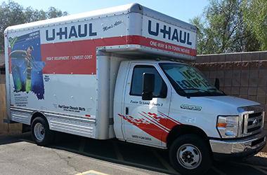 U-Haul rentals available at Arizona Storage Center