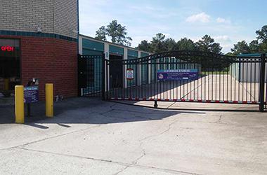 Secure, gated storage at Kleinwood Storage