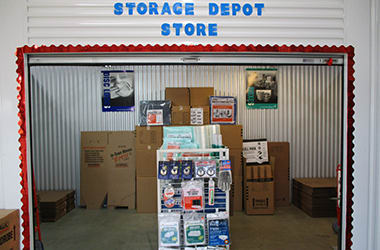 Moving supplies for sale in the office at Storage Depot