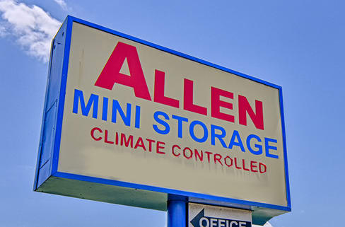Clean and bright indoor storage available at Allen Mini Storage
