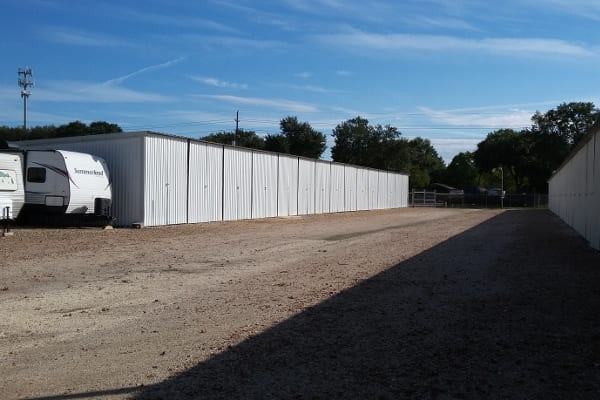 Clean and bright indoor storage available at Huffmeister Road Boat Storage