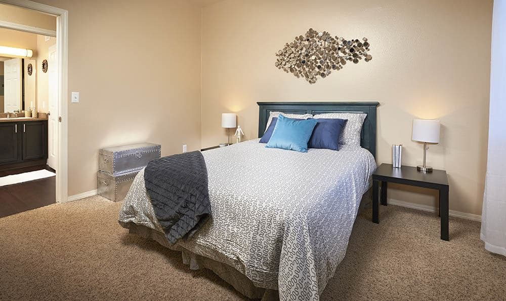 Master Bedroom at Crossroads at City Center Apartments