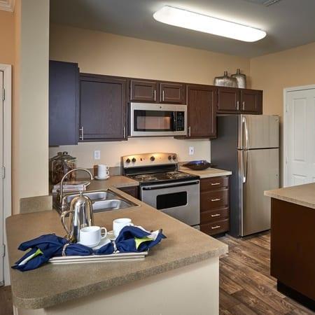 Legend Oaks Apartments kitchen