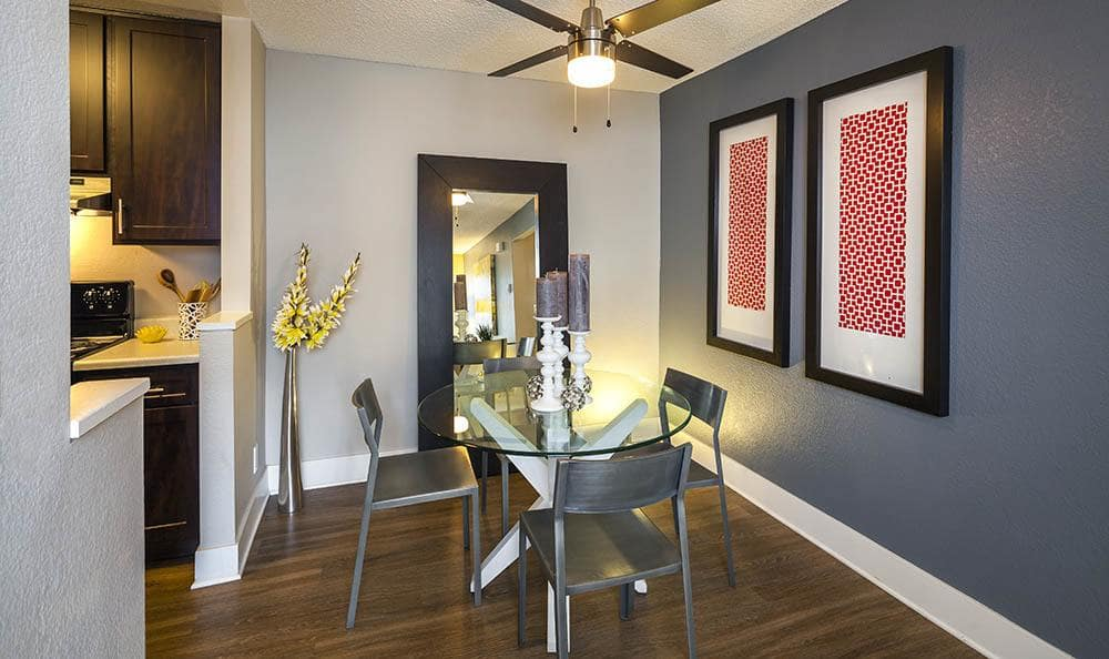 Dining room at Metro Six55 Apartments
