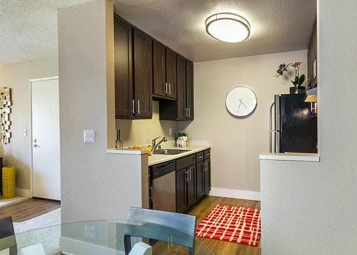 Kitchen at Metro Six55 Apartments in Hayward