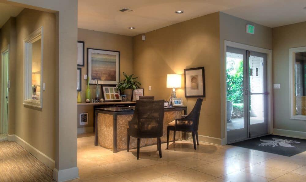 Leasing desk at Newport Crossing Apartments