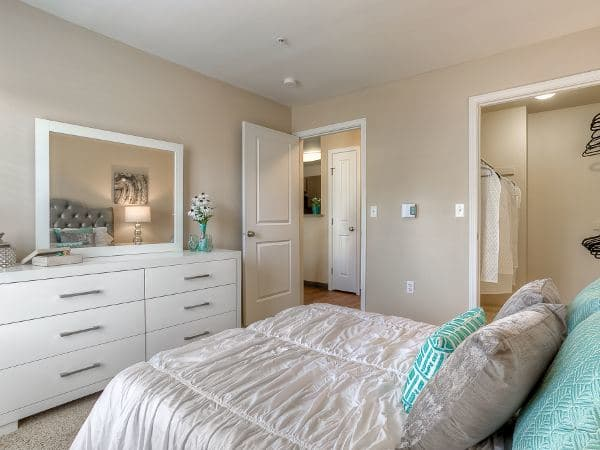 Masterbedroom at Pebble Cove Apartments in Renton,