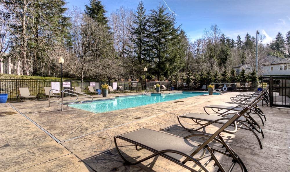 Pool at Pebble Cove Apartments in Renton