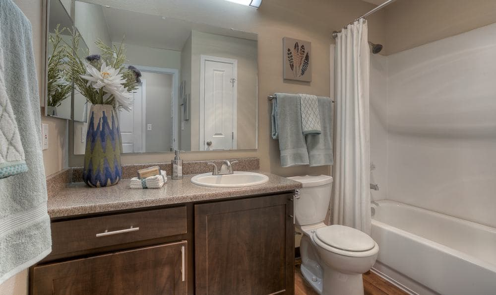 Bathroom at Pebble Cove Apartments in Renton