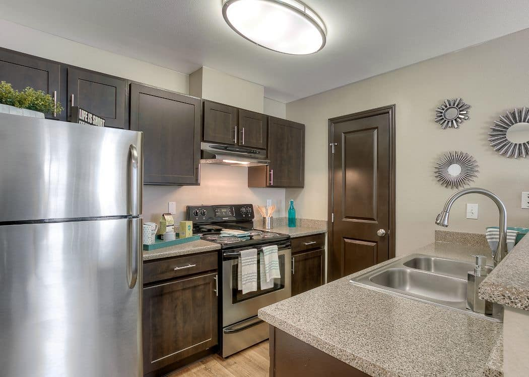 Kitchen at Pebble Cove Apartments in Renton
