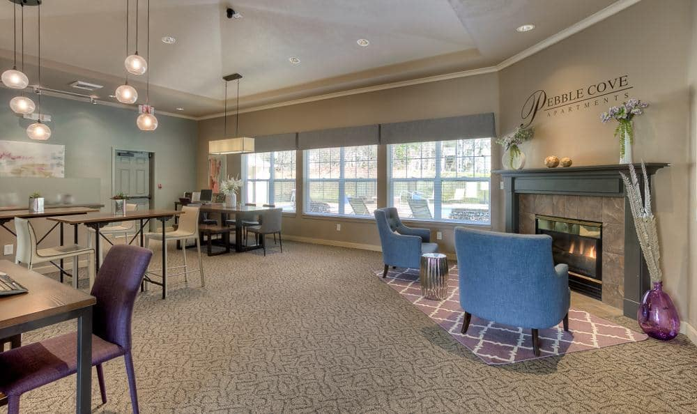 Enjoy our clubhouse at Pebble Cove Apartments in Renton