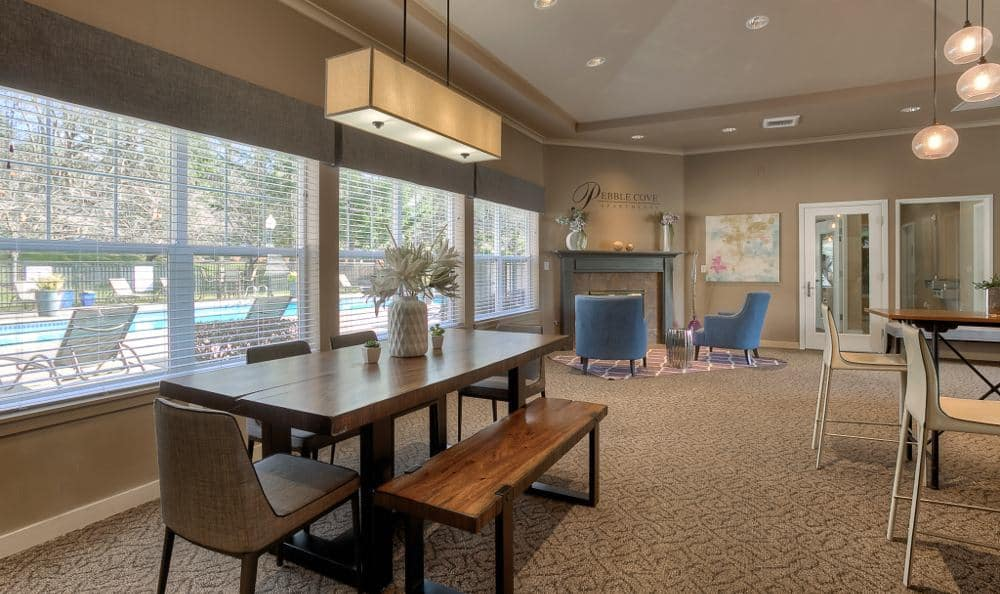 Gorgeous clubhouse at Pebble Cove Apartments in Renton