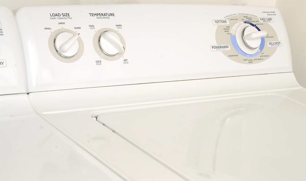 Washer and dryer at Pebble Cove Apartments