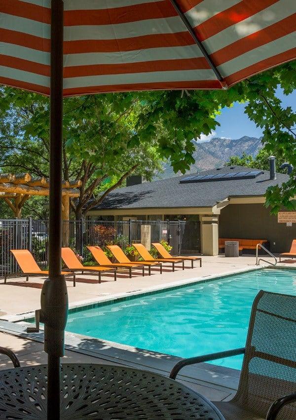 Pool at Royal Farms Apartments in Salt Lake City