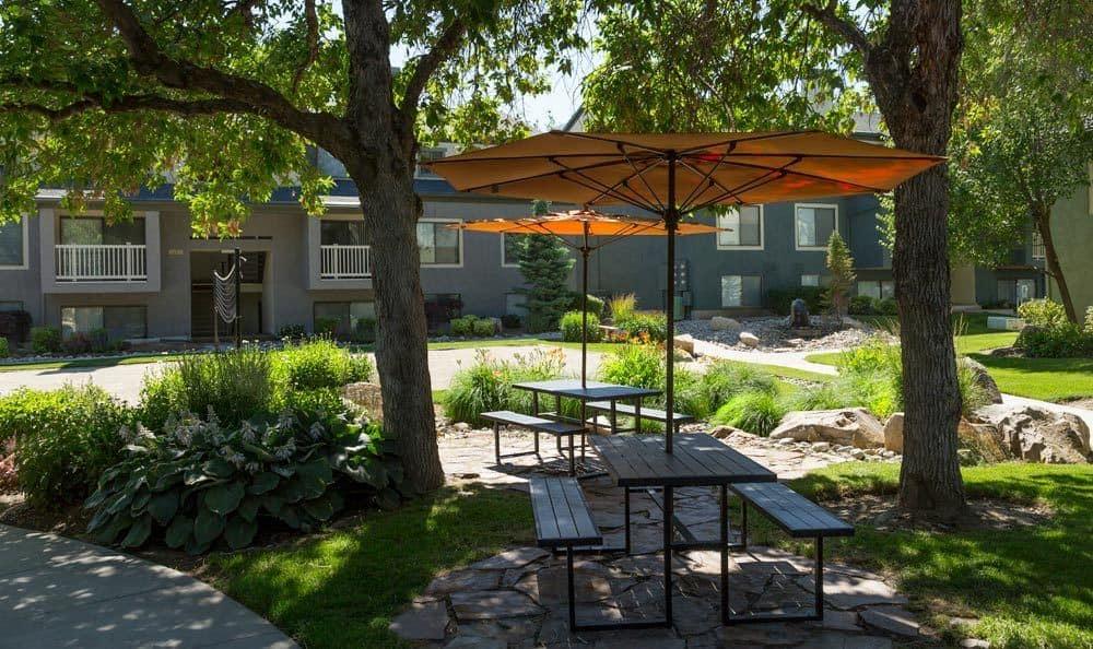 Enjoy a picnic at apartments at Royal Farms Apartments