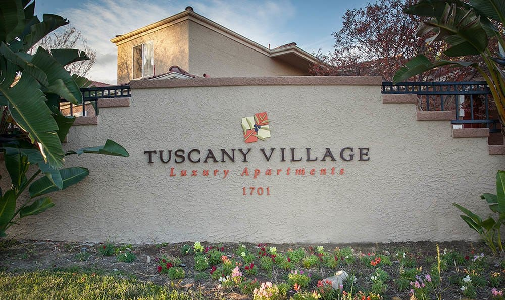 Signage At Tuscany Village Apartments