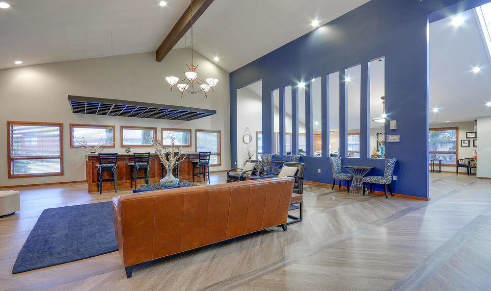 Clubhouse Seating Area At Arbor Creek Apartments