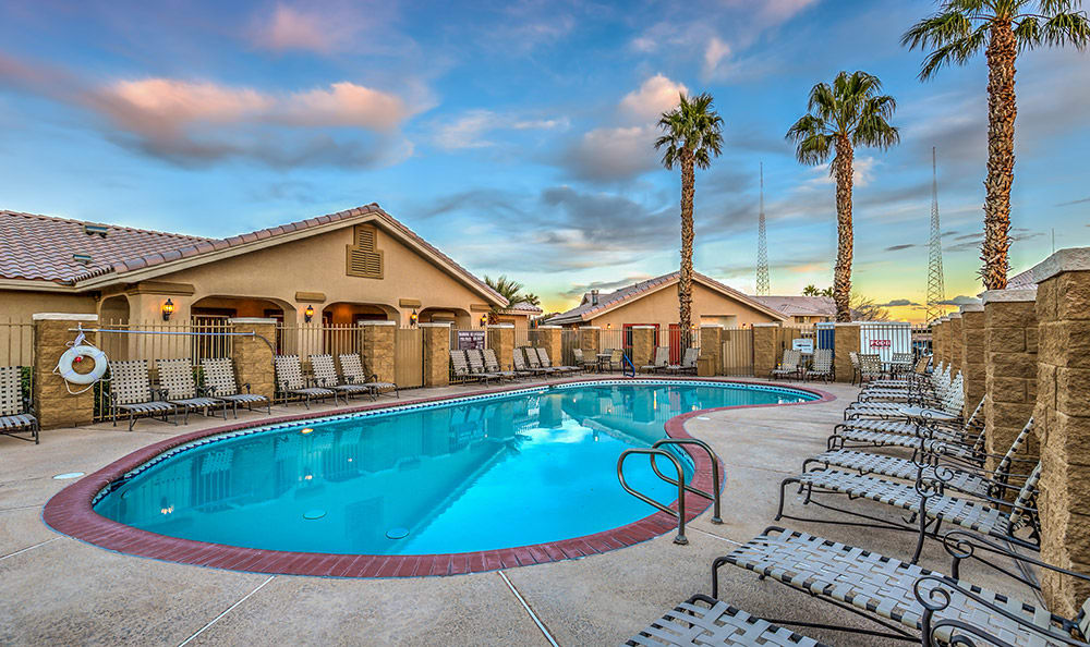 Gorgeous swimming pool area at Portola Del Sol in Las Vegas