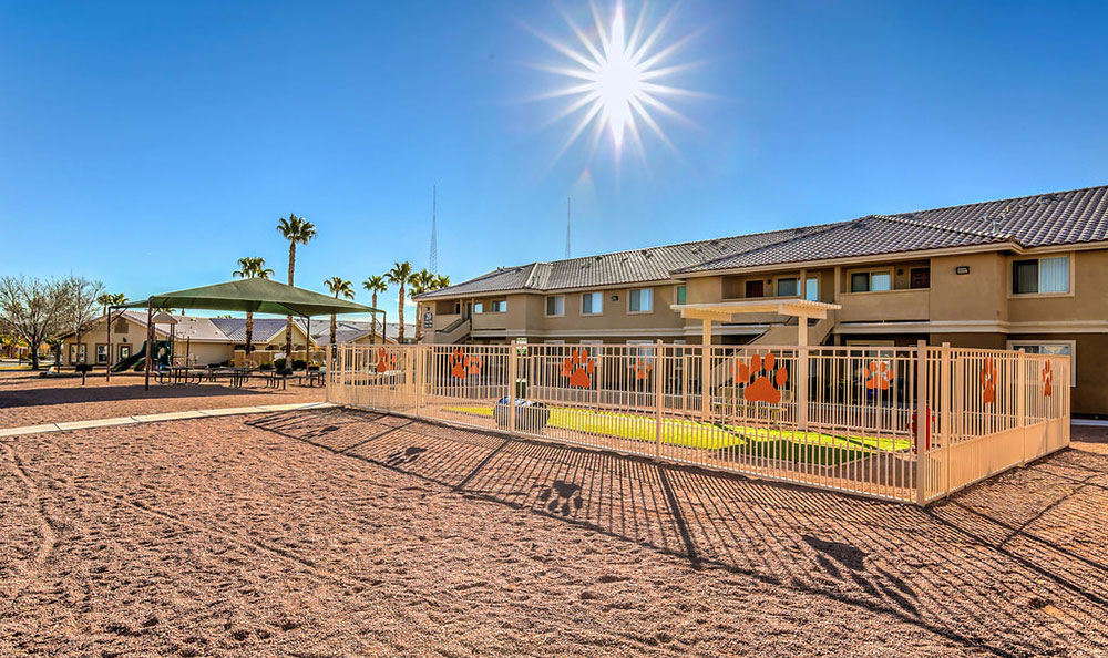 On-site bark park at Portola Del Sol in Las Vegas