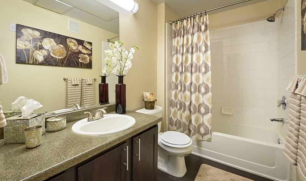 Bathroom Shot At Hawthorne Hill Apartments