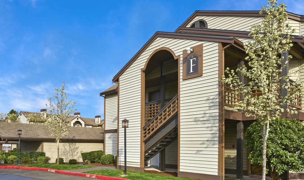 Beautiful Courtyard with Specially Designed Walking Paths at Olin Fields Apartments