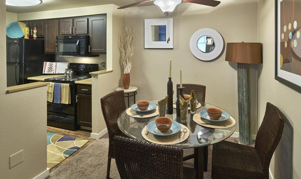Dinning table at Olin Fields Apartments