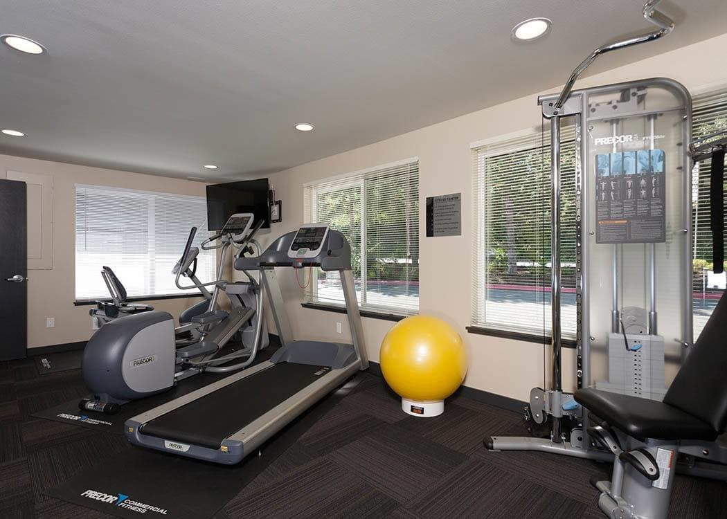 Fitness center at Karbon Apartments in Newcastle