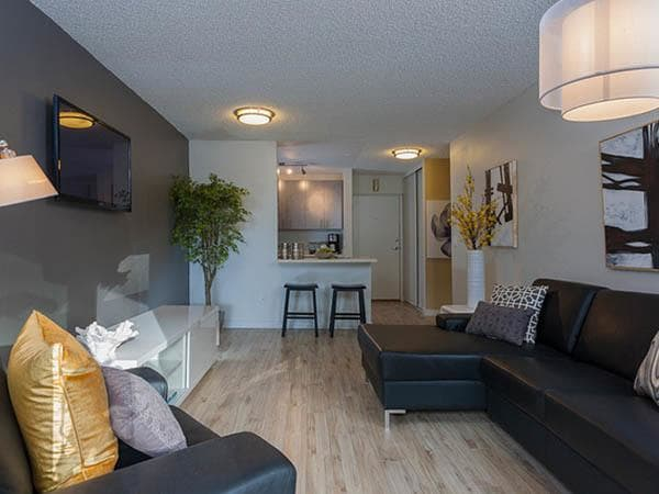 Living Room at Karbon Apartments in Newcastle