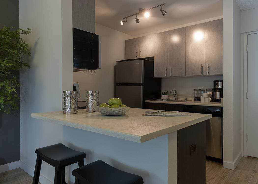 Kitchen At Karbon Apartments In Newcastle ...