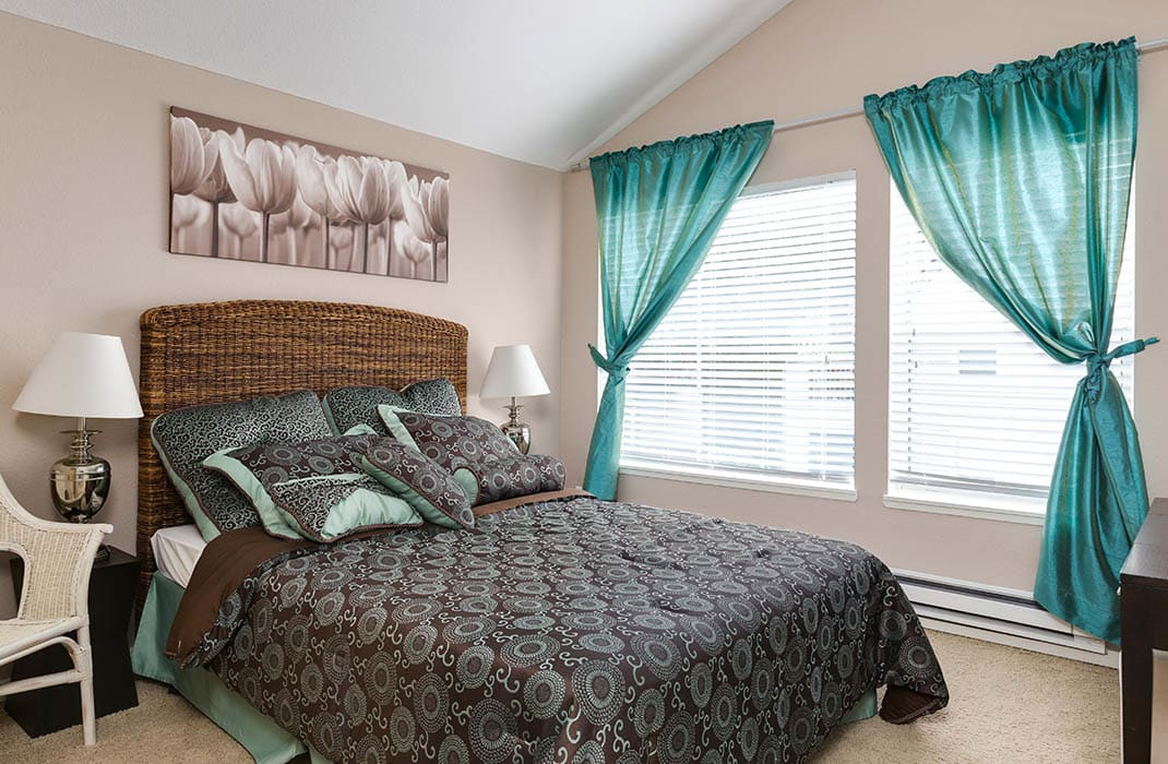 Bedroom at Meadows at Cascade Park Apartments in Vancouver