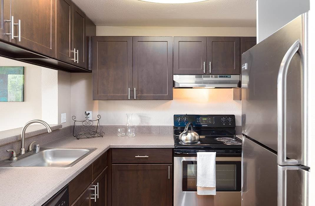 Kitchen at Meadows at Cascade Park Apartments in Vancouver