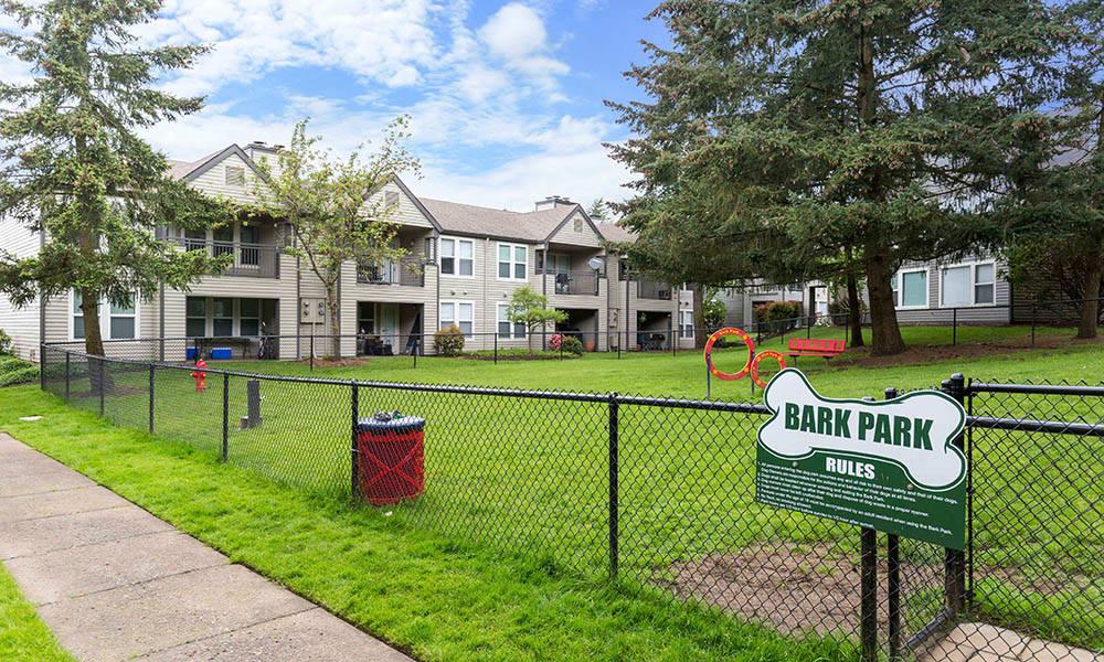 Dog park at Meadows at Cascade Park Apartments