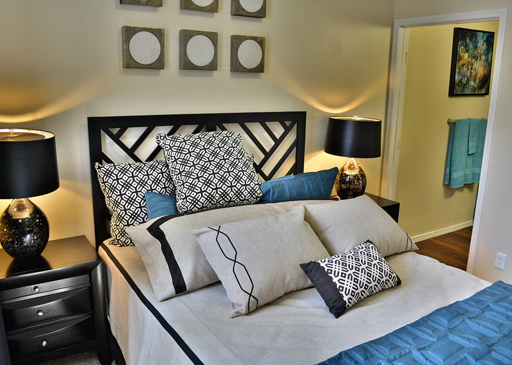 Bedroom at Promenade at Hunter's Glen Apartments in Thornton