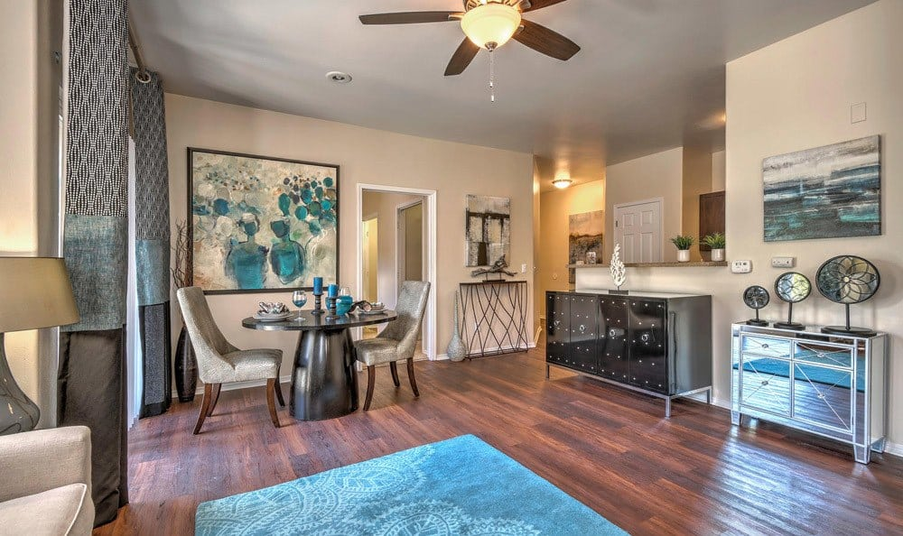 Well decorated lounge in our floor plans at Promenade at Hunter's Glen Apartments