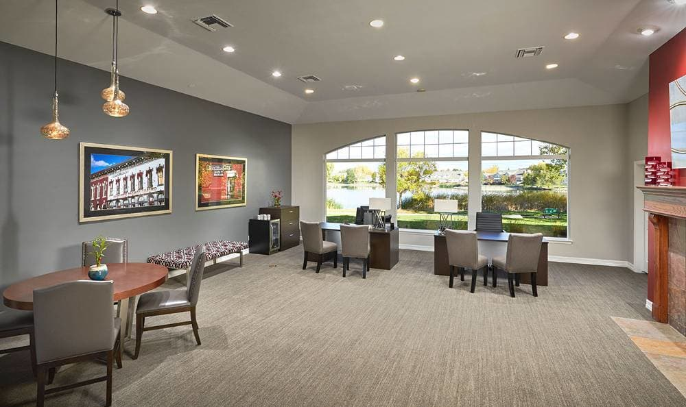 Cooffe room at Promenade at Hunter's Glen Apartments