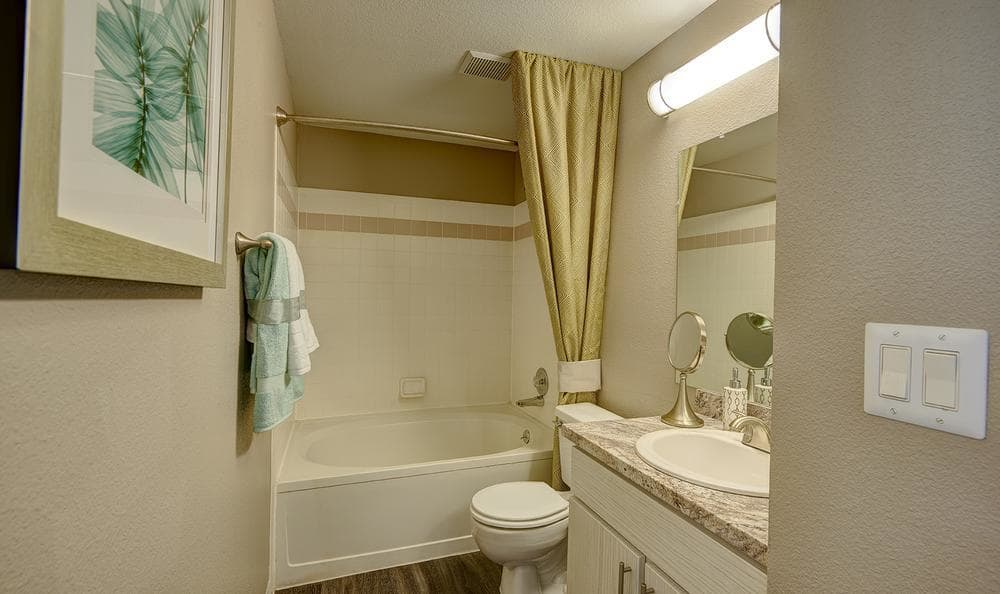 Spacious bathroom at Villas at Homestead Apartments