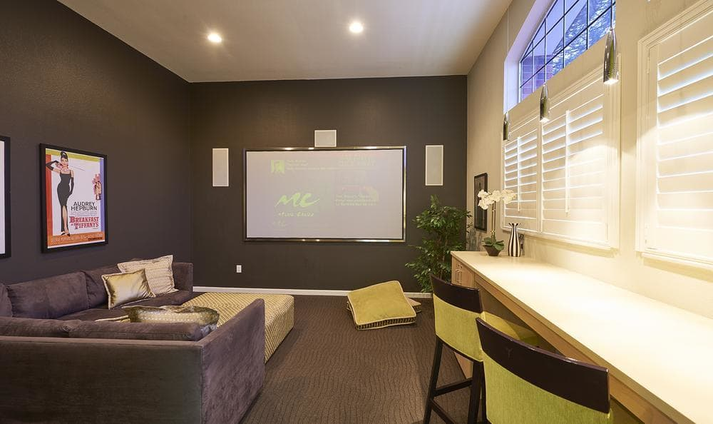 Cinema room at Villas at Homestead Apartments