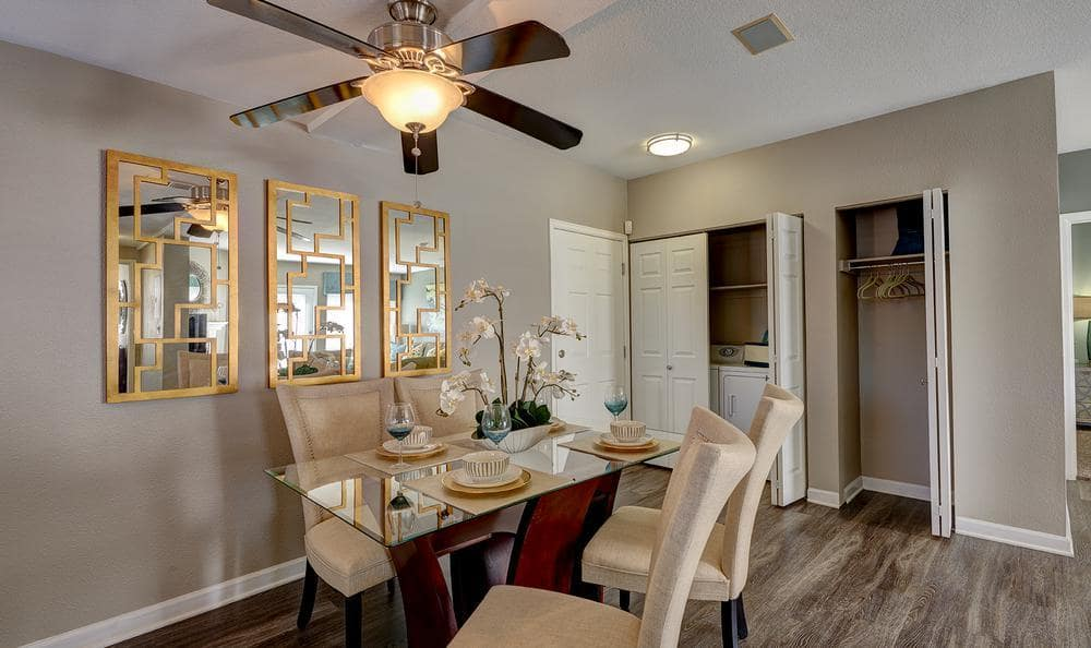 Dinning table in our floor plans at Villas at Homestead Apartments