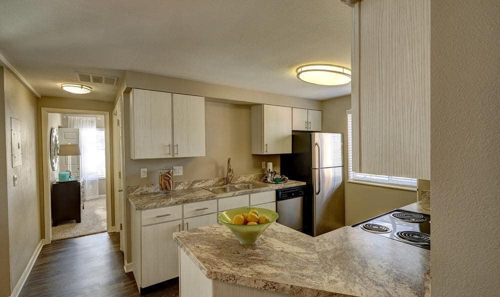 Fully Equipt Kitchen At Villas at Homestead Apartments