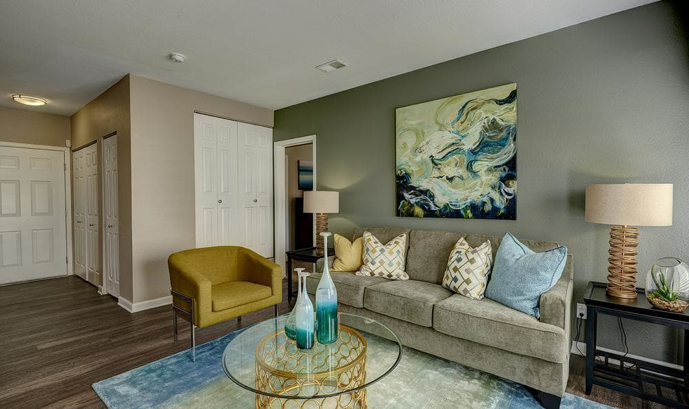 Loung in our floor plans at Villas at Homestead Apartments