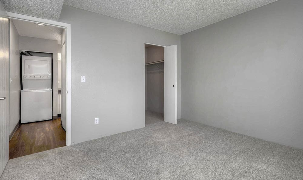 Master bedroom at City Center Station Apartments