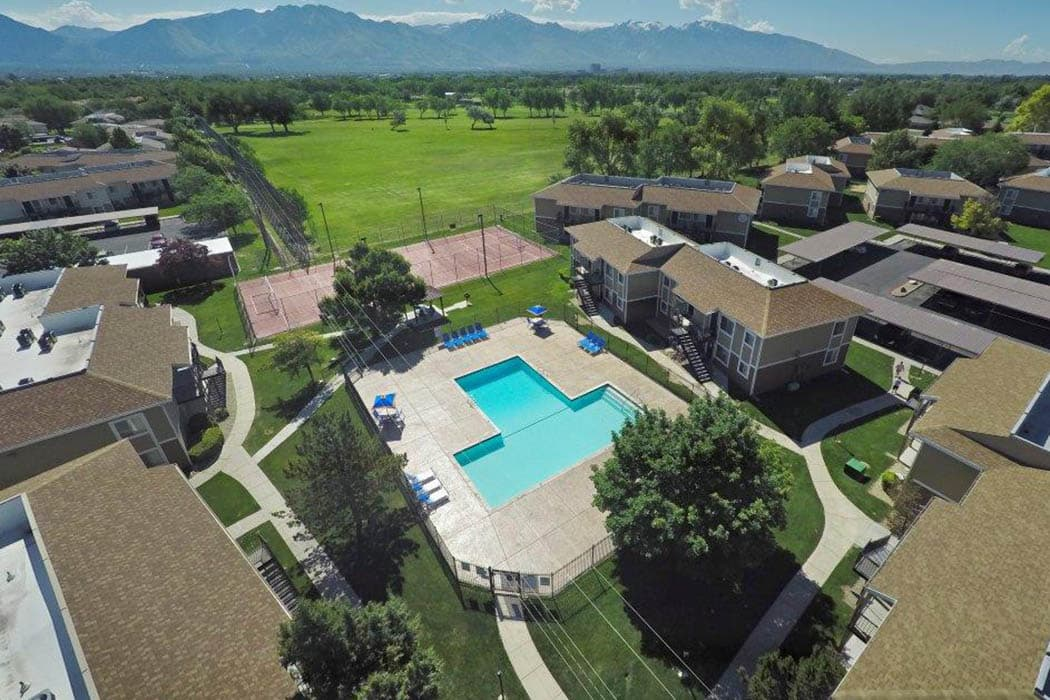 Aerial view at Callaway Apartments in Taylorsville