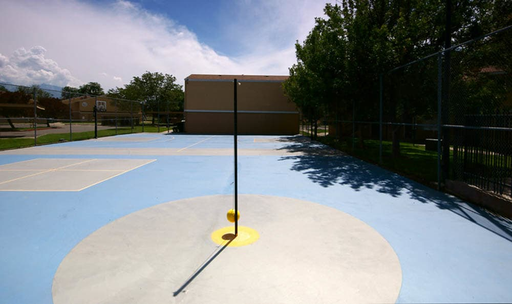 Tetherball court at Callaway Apartments