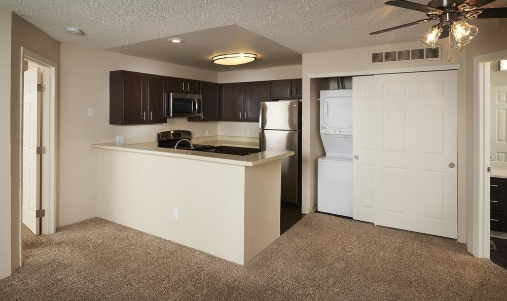 Kitchen and our open floor plans at Bluesky Landing Apartments