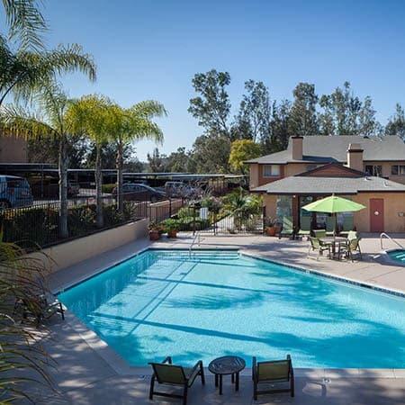 Refreshing swimming pool at Hillside Terrace Apartments in Lemon Grove
