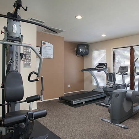 Fitness center at Hillside Terrace Apartments in Lemon Grove