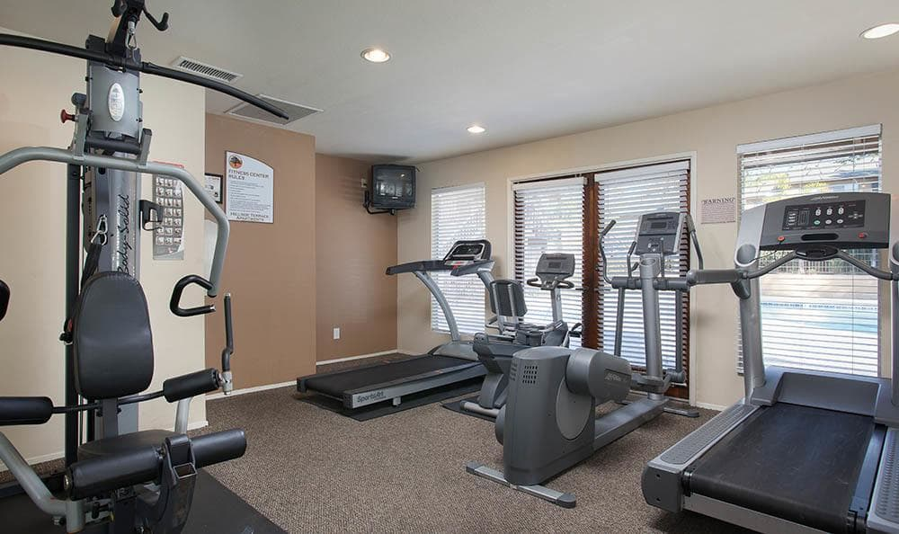 Fitness Center At Hillside Terrace Apartments