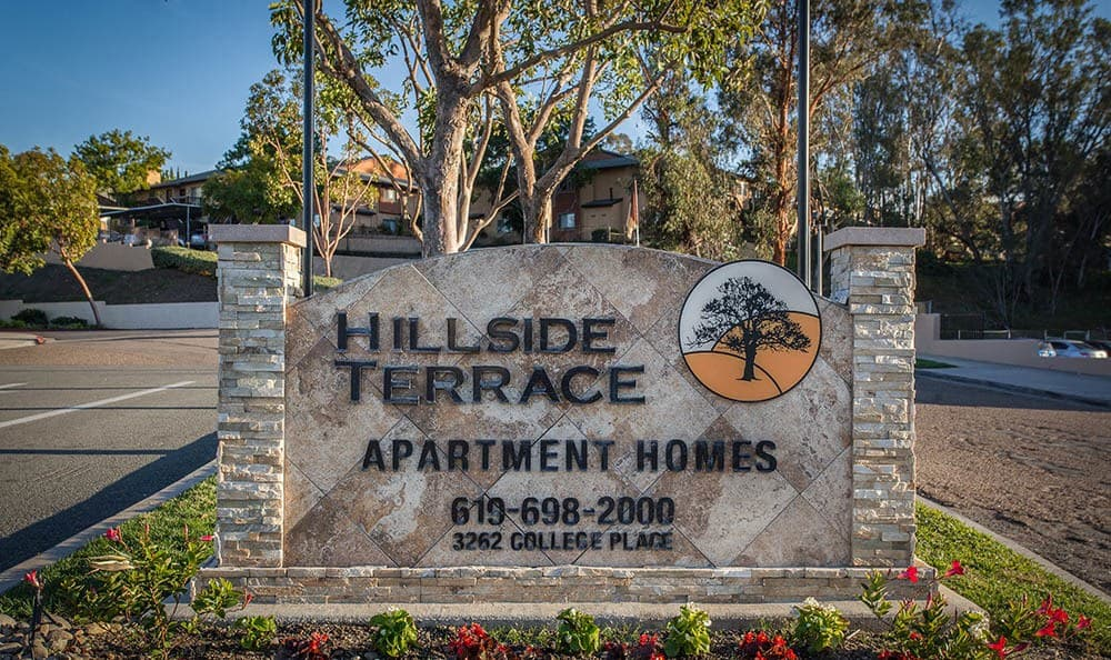 Hillside Terrace Apartments Signage Photo